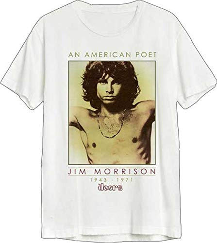 Merch Traffic The Doors American Poet T-Shirt New, White, Medium