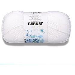 Bernat 16312121005 Big Ball Baby Solid Yarn - (3) Light Gauge 100% Acrylic - 12.3 oz - White - Machine Wash & Dry