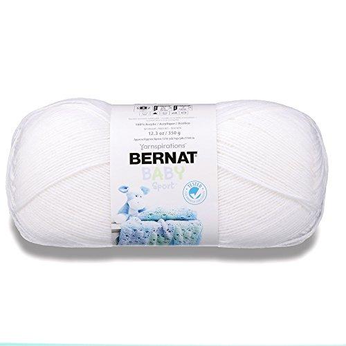 - Bernat 16312121005 Big Ball Baby Solid Yarn - (3) Light Gauge 100% Acrylic - 12.3 oz -   White  -  Machine Wash & Dry