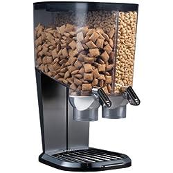 Rosseto EZS1098 EZ-SERV100 2-1/5-Gallon Cereal-and-Snack Dispenser, Black and Chrome