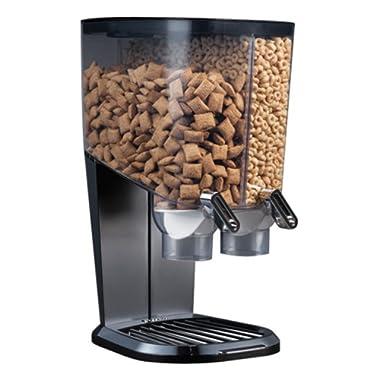 Rosseto EZ-SERV100 2-1/5-Gallon Cereal-and-Snack Dispenser, Black and Chrome