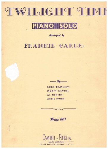 Twilight Time Piano Solo arranged by Frankie Carle