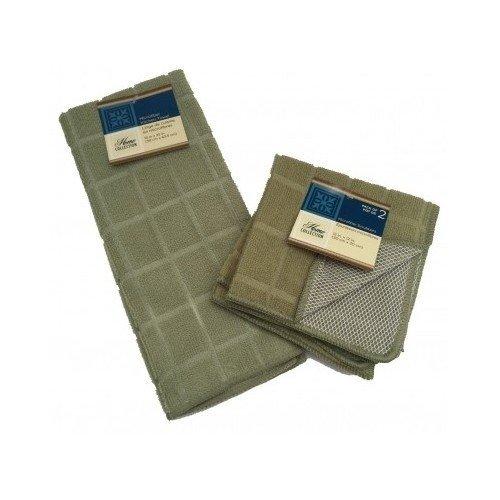 Microfiber Dish Towel Dish Rag Pack of 3 Dish Towel & Dish Rags Set Sage Green Kitchen Cleaning Supplies Kitchen Accessories Microfiber Cleaning Cloth Dish Washing Cleaning Supplies (Sage Green)