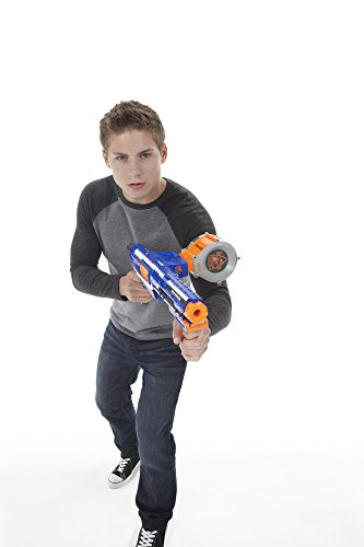 41pckYdnhTL - Nerf Rampage N-Strike Elite Toy Blaster with 25 Dart Drum Slam Fire and 25 Official Elite Foam Darts For Kids, Teens, and Adults