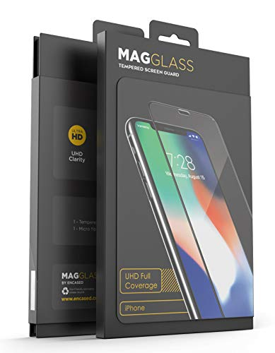 (magglass iPhone XR Full Screen Protector (Shatterproof) Case Compatible Tempered Glass Full Adhesive Glue Edge to Edge Coverage Phone Screen Guard (UHD))