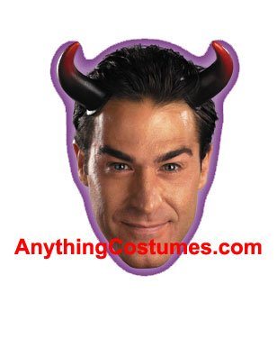 Devil Costume For Men - Disguise Costumes Oversized Devil Horns, Adult