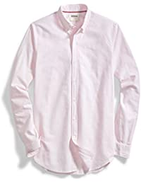 Men's Standard-Fit Long-Sleeve Striped Oxford Shirt