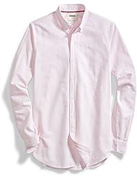 Men's Standard-Fit Long-Sleeve Striped Oxford Shirt