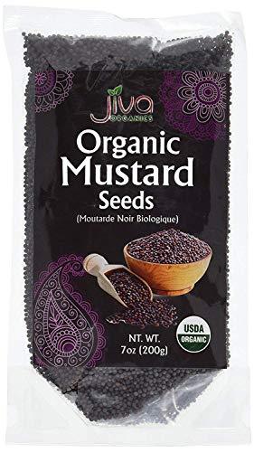 (Jiva USDA Organic Mustard Seeds Black 7 Ounce - Nearly 1/2 Pound)