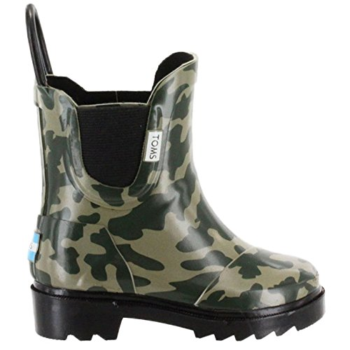 Toms Tiny Toddlers Rain Boots in Camo Rubber (Tiny Toms Sale)