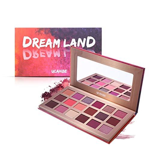 Shimmer Matte Dreamland Eyeshadow Makeup Palette 18 Color Purple Pink Pigment Eye Shadow Powder Waterproof Cosmetic Kit Dreamland Eyeshadow (Kiss Land Deluxe)