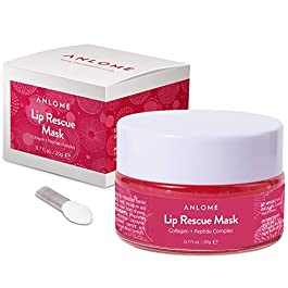 ANLOME Collagen Lip Sleep Mask, Lip Rescue Peptide Complex – Supplies Your Lips with Moisture, Nutrition, Softening, Fades Fine Lines