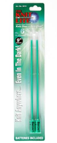 Knit Lite Knitting Needles 9'' US 6 (4mm) Green By The Package