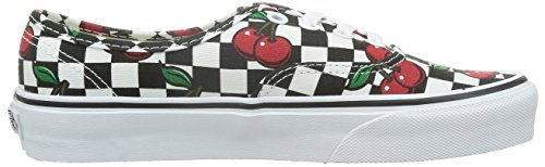 Vans Authentic Black Noir Basses Checkers cherry Baskets Mixte White Adulte true wgd8wrq