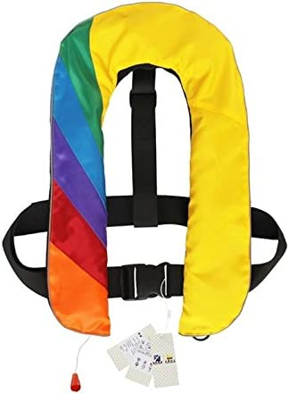 Rainbow New Automatic/Manual Inflatable Life Jacket