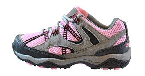Image of Gander Mountain Girls' Trail Climber Explorer Low Hiker, Grey/Pink, 6