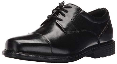 Rockport Men's City Stride Cap Toe Oxford- Black-9 W