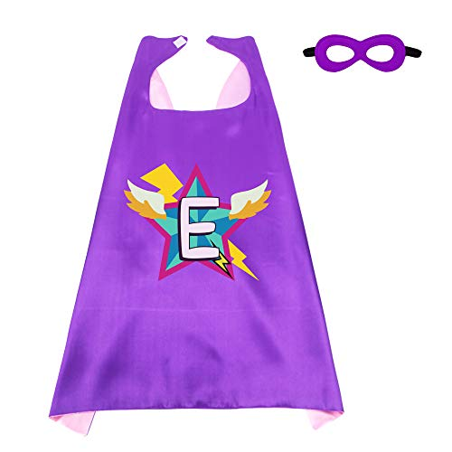 A Girl Superhero (Kids Superhero Cape Mask for Girls with 26 Initial Letters Hero Dress up Party)