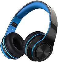 Auriculares Bluetooth con Micrófono Hi-Fi Deep Bass,ZLX Inalámbricos Headphones Plegables con Cancelación de Ruido Compatible con Smartphones, Tabletas, Computadoras, TV,PC