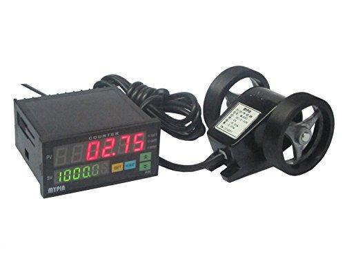 BAOSHISHAN FC8-6CRNB 6 Digit LED Diaplay Meter Counter Length Meter Counting Wheel Length Batch Meter