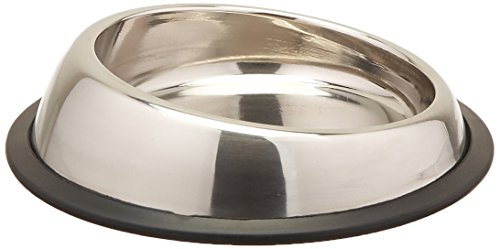 Iconic Pet 1-Cup Heavy Weight Non-Skid Easy Feed High Back Pet Bowl for Dog or Cat, 8-Ounce