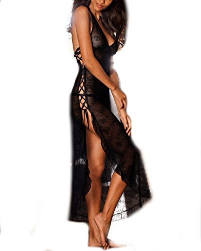 JETTE - Chemise de nuit - Femme noir Schwarz X-Small