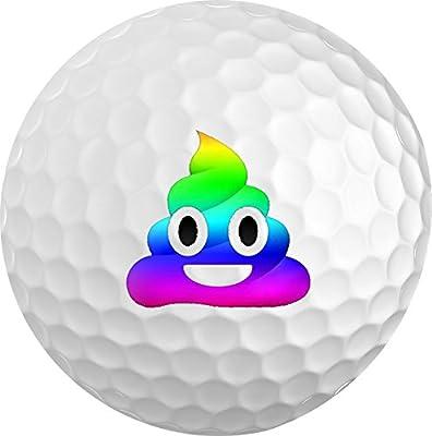 Rainbow Poop Emoji Golf Balls 3 pk