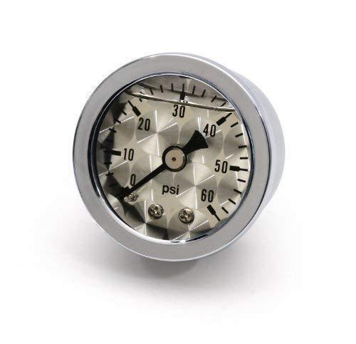 /Öldruckmanometer /Öldruckanzeige silber /ÖL f/ür HD Harley Davidson Hot Rod Custom