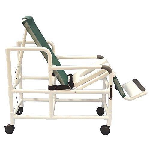 MJM International 193-TIS Tilt N Space Shower Chair Royal Blue, Forest Green, Mauve