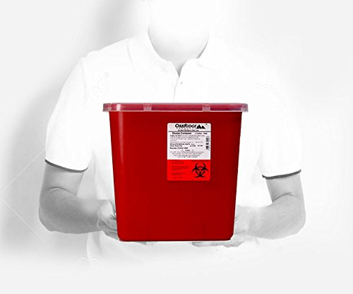 2 Gallon Size | Sharps and Biohazard Waste Disposal Container (Pack of 2) by Oakridge Products by OakRidge Products (Image #4)
