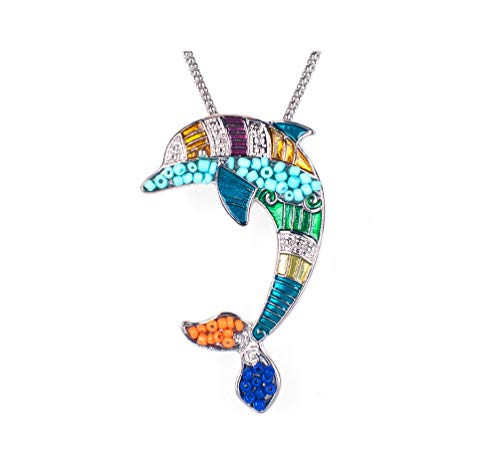 Gold Silver Enamel Vintage Crystal Jewelry Animal Pendant For Women Fashion Colorful,Silver 6