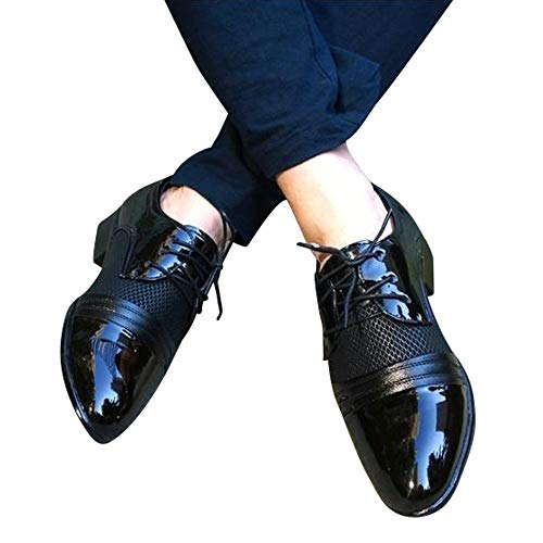 Todaies Men Business Shoes Fashion Casual Oxford Shoes Lace-Up Pointed Shoes