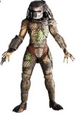 NECA Predators 2010 Movie Series 2 Action Figure Battle Damaged Classic Predator Cracked Mask by Predators