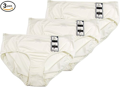 Jockey Women's Underwear Traditional Fit Vintage Queen Brief - 3 Pack (10, Ivory)