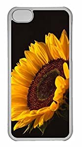 LJF phone case iphone 5/5s Case, Personalized Custom Sun Flower for iphone 5/5s PC Clear Case