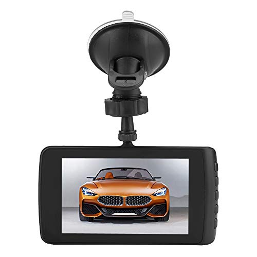 Acouto 4in Screen Full HD 1080P 170° Dual Dash Car DVR Camera Front Rear ABS Camera Vehicle DVR Recorder