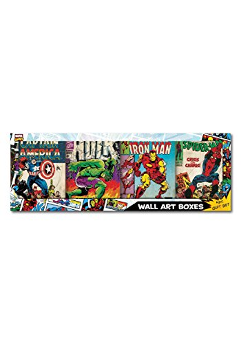 Marvel Recycled MDF Wood Box art Edge Home Products - M79B001GFT (Wood Wall Comics Marvel Plaque)