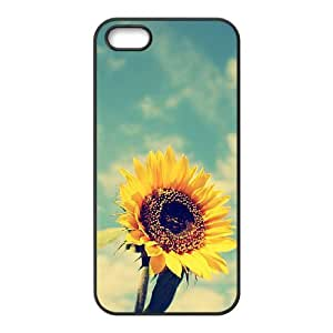 Sunflower Use Your Own Image Phone Case for Iphone 5,5S,customized case cover ygtg562895