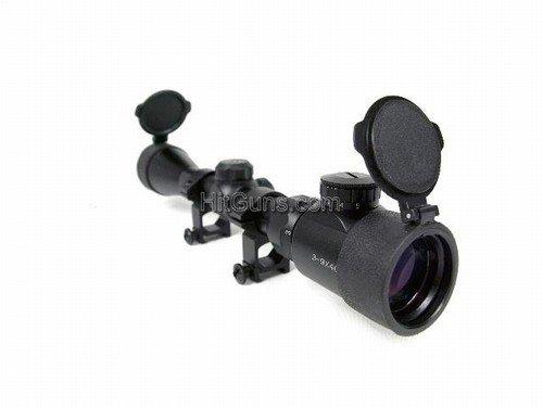 BBTac - AIM rifle scope 3-9x40 illuminated with flip up filter