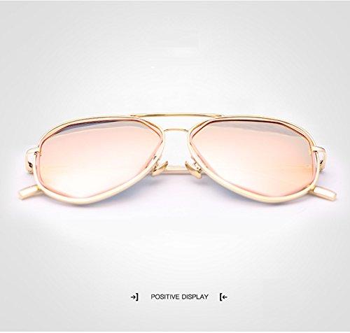 Lady Gafas de UV400 de New Vendimia de Gafas para Sol piloto Sol Irregulares 4 Shuo Color 3 polarizadas lan Hombres la aqEnw4x4tg