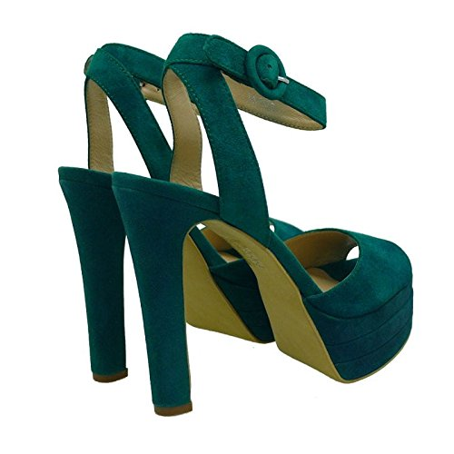 Bruno Premi Women's Shoes With Strap Green 9D2VMiFH
