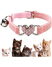 Bling kitten collar, cat collar with bell and elastic strap