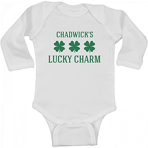 Chadwicks Cotton - Delia Bartholomew Chadwick's Lucky Charm: Infant Long Sleeve Bodysuit