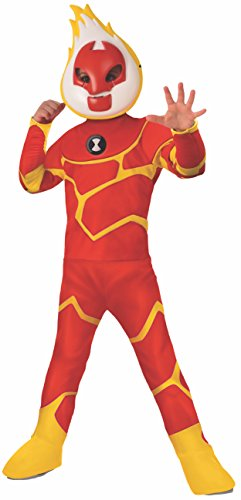 Ben Ten Costume (Rubie's Ben 10 Child's Deluxe Heatblast Costume,)