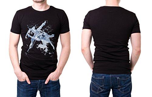 Turnen_I schwarzes modernes Herren T-Shirt mit stylischen Aufdruck