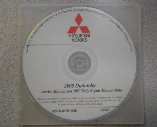 2008 2007 mitsubishi outlander service repair manual cd factory rh amazon com mitsubishi outlander 2006 manual mitsubishi outlander 2006 manual