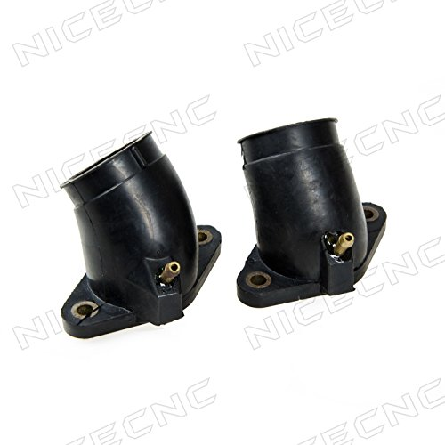 (NICECNC 2PCS Carb Intake Carburetor Interface Air Joint Boot Connector Adapter for Yamaha V-STAR 650 CUSTOM CLASSIC SILVERADO)