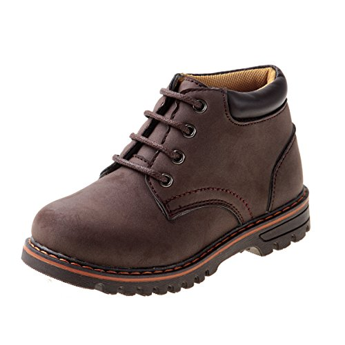 Brown Boots For Boys (Joseph Allen Boys Lace Up Work Boot, Brown, Little Kid / 13)