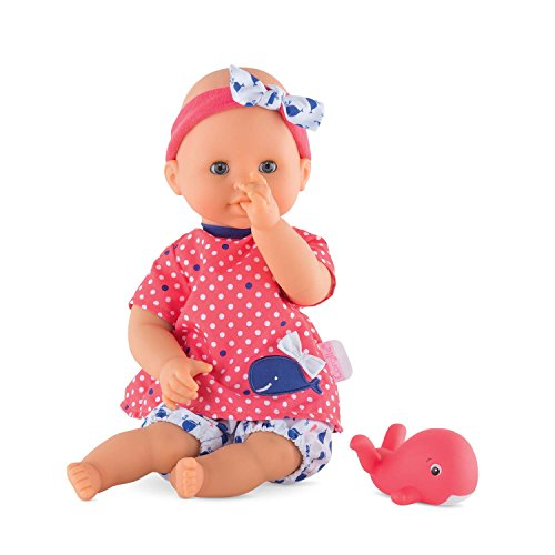 "Corolle Mon Premier Bebe Bath Oceane 12"" Baby Doll, Safe for Bathtub Or Pool, Floats in Water"