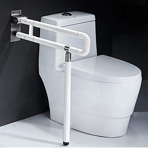 Foldable Toilet Grab Bar 304 Stainless Steel Medical Safety Shower Handrails Anti Slip Bathroom Seat Support Bar Flip-Up Bathtub Grab Arm Bar Hand Grips for Disabled Elderly Handicap - Rails Grab Stainless Steel